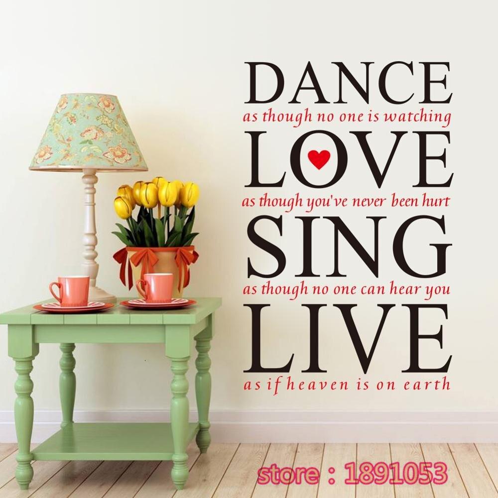 Die Neue Liebe Singen Live Englisch Muster Wandaufkleber Ehe Zimmer Schlafzimmer Wohnzimmer TV Sofa Hintergrund Dekorative