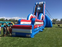Giant inflatable high slide,inflatable water slide with pool kids adult size for sale