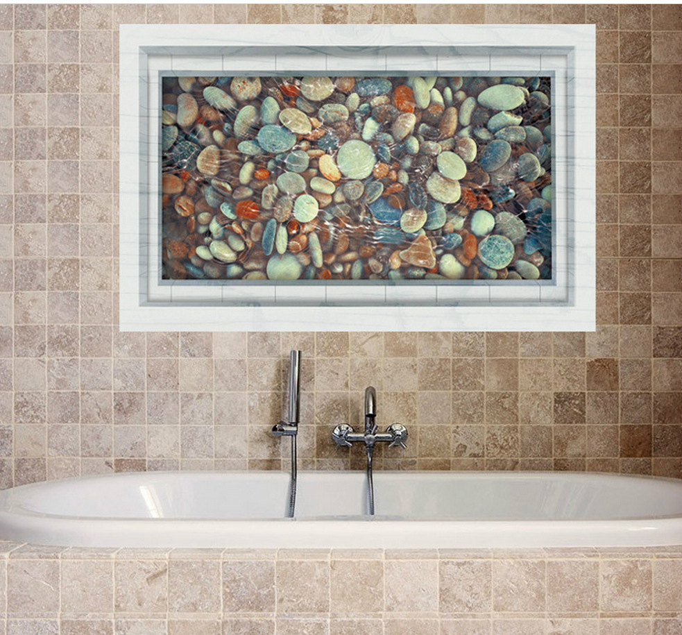 US $5.27 12% OFF|Maruoxuan Kiesel Teich 3D Boden Aufkleber Badezimmer  Dekoration Wasserdicht Wohnzimmer Wandaufkleber Diy Art Home Decals  Poster-in ...