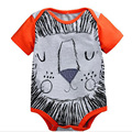 2016 Summer Baby Clothing Cotton Boy Bodysuit Cartoon Jumpsuit Baby Animal Baby Body Newborn Baby Wear