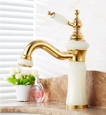 fashion high quality solid brass and natural jade construction bathroom hot and cold gold finish basin faucet,tap sink mixerfashion high quality solid brass and natural jade construction bathroom hot and cold gold finish basin faucet,tap sink mixer