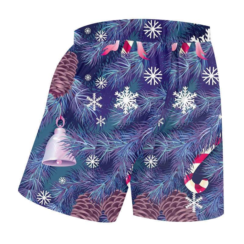 OGKB Men New Christmas And Santa Claus Beach Shorts 3D Printed Animal Harajuku Plus Size 6XL Man Summer Clothing