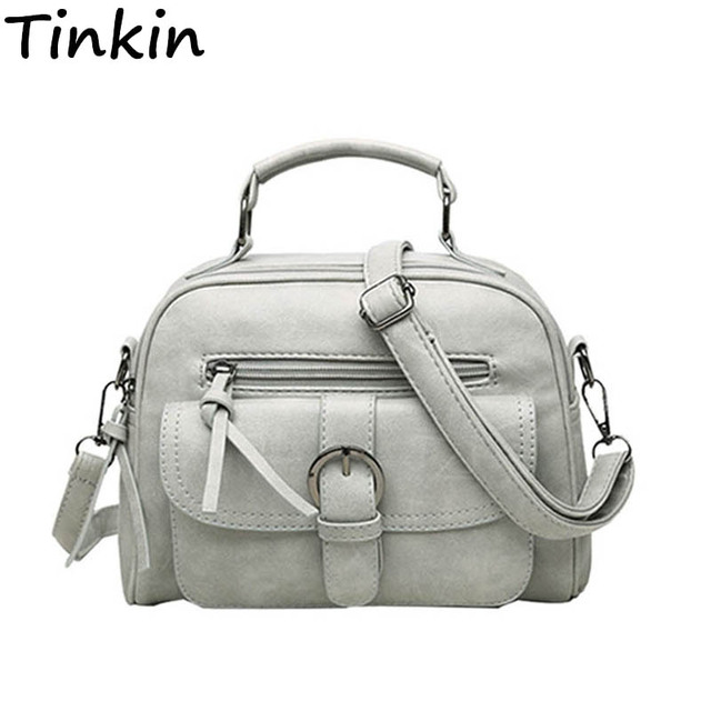 Tinkin Scrub Women Bag Fashion Shoulder Bag Casual Simple Tote Fresh Cherry Female Messenger Bag Matte Leather Female Handbag