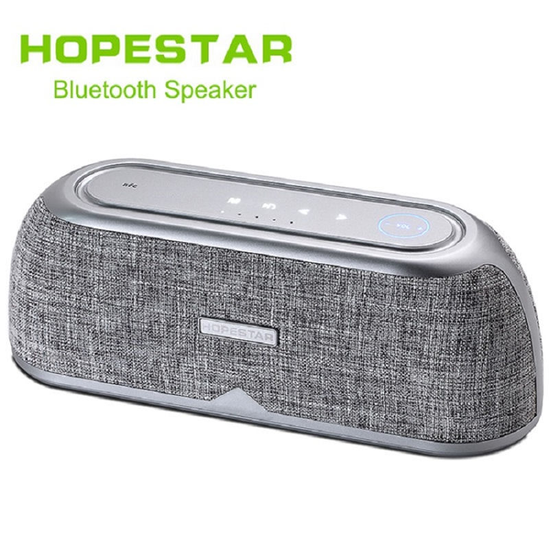 HOPESTAR Touch Wireless Bluetooth Speaker Soundbar waterproof Outdoor stereo Bass Effect Home Theate Power Bank For Phone TV NFC solo one wireless bluetooth speaker vogue wooden nfc stereo super bass desktop speaker touch button for ios smartphone tablet pc