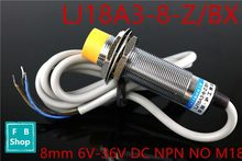 1 stks LJ18A3-8-Z/BX sensing 8mm 6 v-36 v DC NPN NO M18 prisma vorm inductieve screen shield proximity sensor switch Y(China)