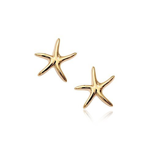 3 pieces, Free shipping, Rigant , 18k rose gold plated, Starfish Earrings,Jewelry  Earrings