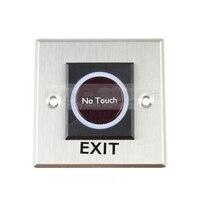 DIYSECUR Çıkış Düğmesi Kızılötesi Dokunmatik Indüksiyon Anahtarı Tarzı/Erişim Anahtarı/Çıkış Anahtarı Erişim Kontrol Sistemi için