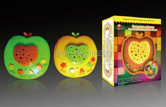 New-Russian-Apple-Stories-Teller-with-LED-Light-ProjectionBaby-Russia-Story-Learning-MachinesChildren-Educational-Learning-Toy-2