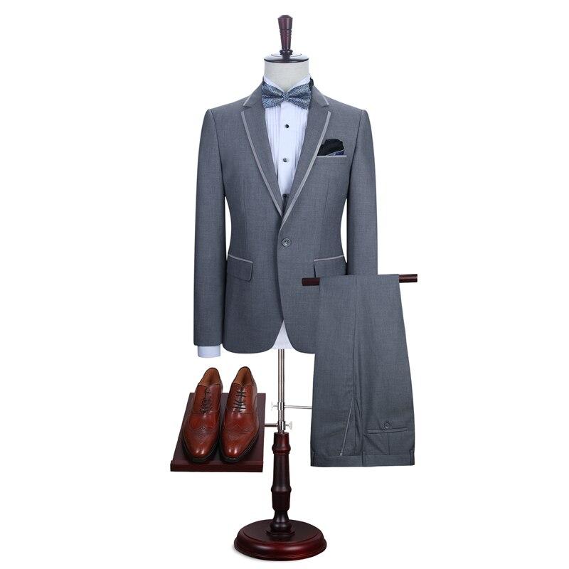 Slim Gris De Robe vestes Marié Pantalon Blazer Affaires Clair Smokings Mariage 2017 Hommes Same Costumes Personnalisé Picture Fit As Bridegroon Nouveau tw0xqwA1