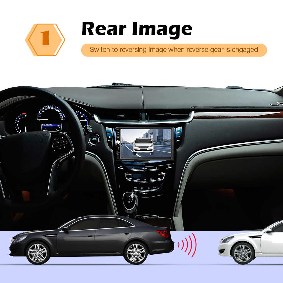 2 Din MP5 oynatıcı araba radyo 7 ''LCD dokunmatik ekran desteği dikiz kamera Bluetooth radyo çalar araba ses araba multimedya oynatıcı