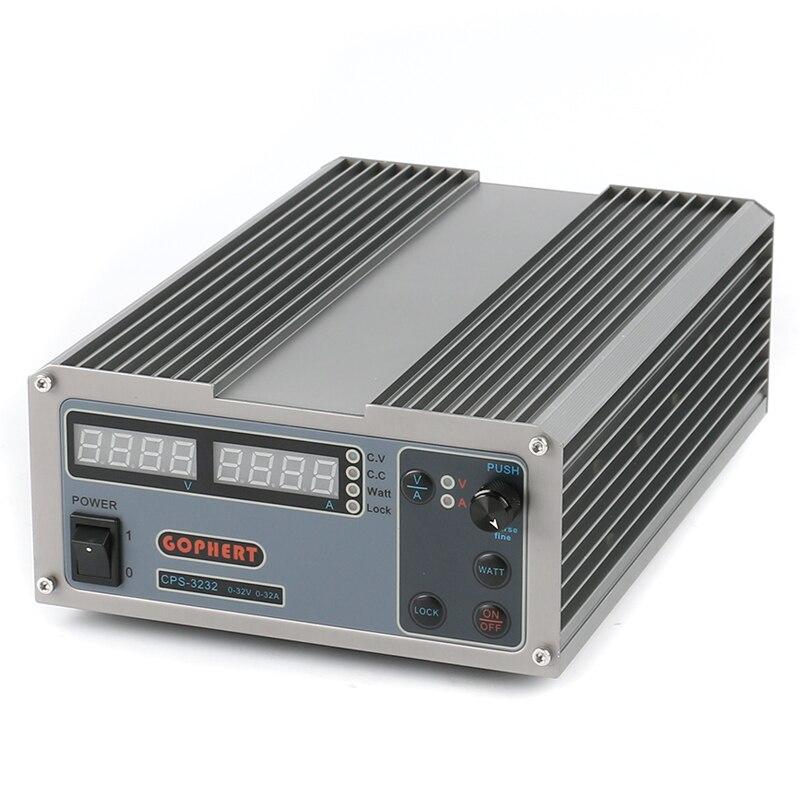 CPS-3232 высокая эффективность Компактный регулируемый цифровой DC питание 32 В в 32A OVP/OCP/OTP лаборатории ЕС разъем АС