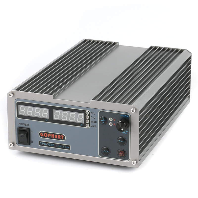 CPS-3232 High efficiency Compact Adjustable Digital DC Power Supply 32V 32A OVP/OCP/OTP Laboratory Power Supply EU AU Plug gophert cps 3205 ii digital dc power supply 32v 5a ovp ocp otp eu plug 0 01v 0 001a precision display