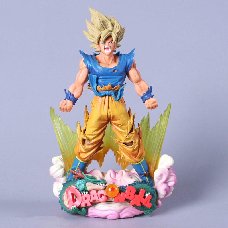Anime Dragon Ball Z MSP Master Stars Piece Super Saiyan The Son Goku PVC Action Figure Collectible Model Toys Doll 24CM dragon ball super toy son goku action figure anime super vegeta pop model doll pvc collection toys for children christmas gifts