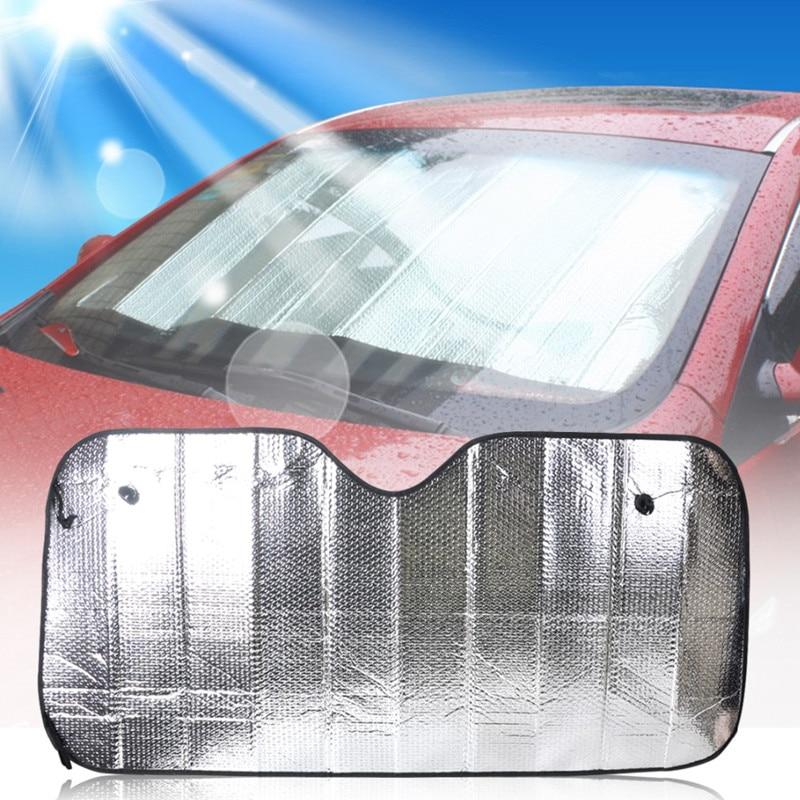 70*137cm Front Car Windshield Sun Visor Shades Shield Foldable Rear Window Sunshade Aluminum Foil Film Cover