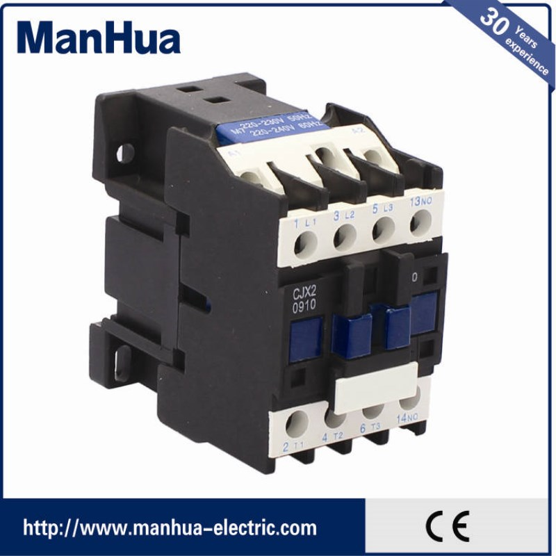 Manhua Website Business LC1-D09 3P+NO/NC 9A AC Type of Contactor With Professional Home AC Contactor Elevator Magnetic Contactor
