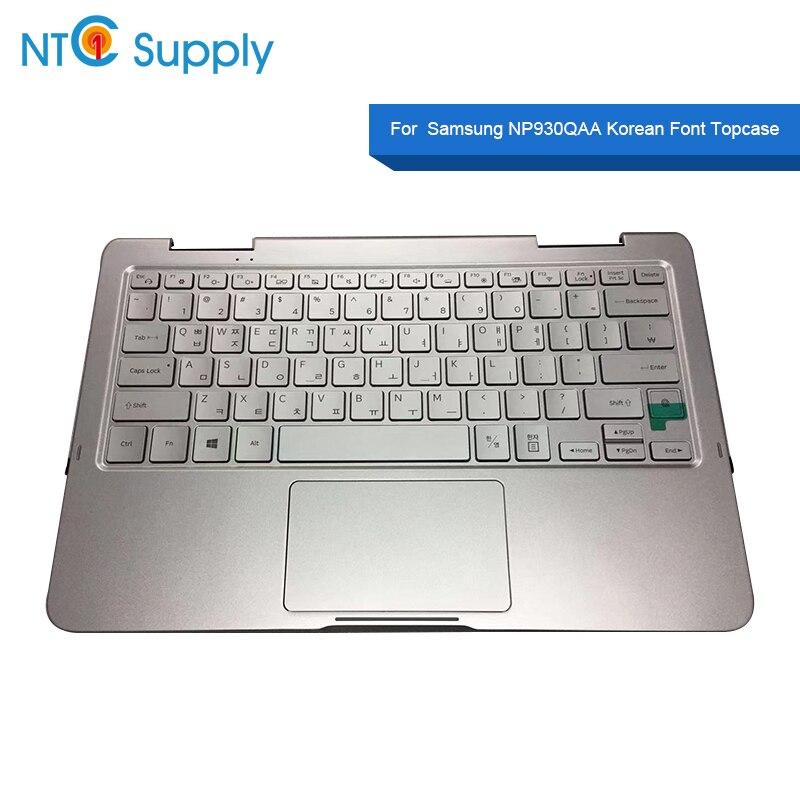 Fornecimento NTC Para Samsung NP930QAA NP930QUS BA59-04279B Sliver Fonte Coreana Topcase Com Touchpad Teclado/Teclado Palmrest