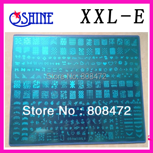 New Stamping Big size Template XXL size XXL-E Designs Nail Art BigTemplate DIY Nails Stamping Nail Art products