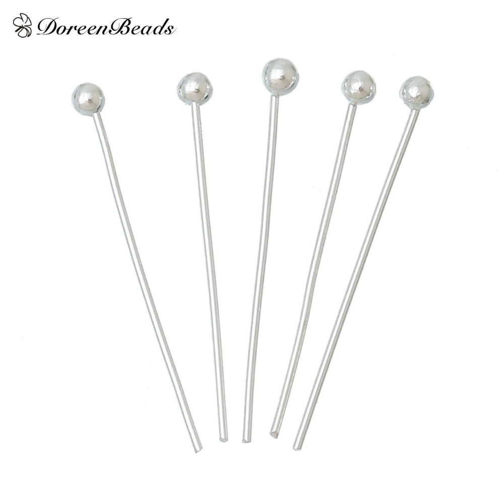 DoreenBeads 1000PCs 20x0.5mm(24 Gauge) silver color Ball Head Pins Findings (B20063) 1000pcs 1 4w metal film resistors 750kohm 1