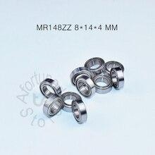 цена на MR148ZZ ABEC-5 bearing Metal Sealed Miniature Mini Bearing Free shipping MR148 MR148ZZ 8*14*4 MM chrome steel bearings