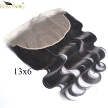 Brazilian Body Wave Hair Lace Frontal 13x6 Remy Human Product More Swiss lace Front Soft Nature Wear Ross Pretty Brand
