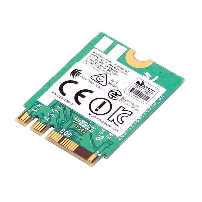 Dual Band Adapter Broadcom BCM94356Z AW CB210NF P NGFF M 2 WiFi Wireless  Card 867Mbps + Bluetooth 4 1 802 11ac BCM94356Z AC Card