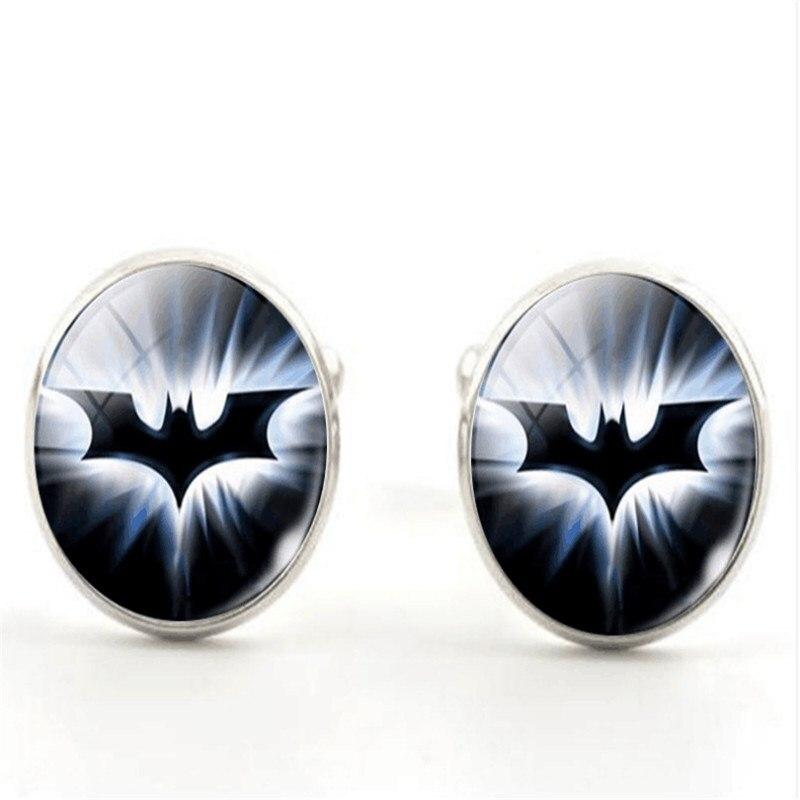 Button Cufflinks Crystal Batman Shirt 20mm Clothing Men 1-Pair Wholesale Men's