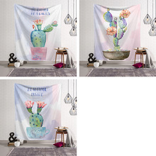 Ins Cactus Series Home Hanging Tapestry Decorative Cloth Colored Printed Mandala Indian