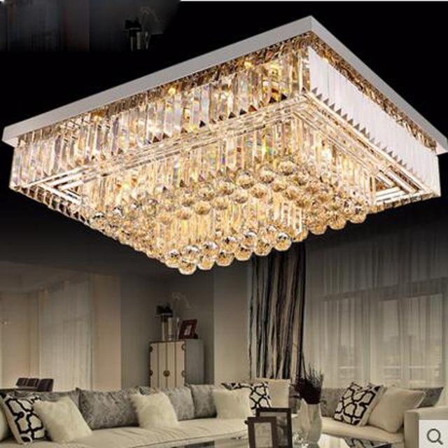 Wohnzimmer Lampe Kristall Licht Rechteckigen Deckenleuchte Fuhrte