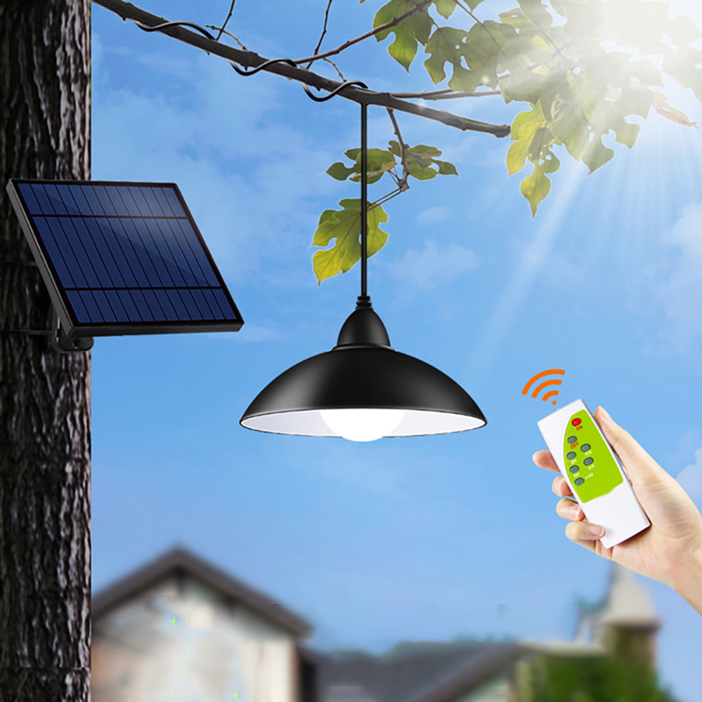 Garden Solar Lamp Retro Solar Powered LED Rope Pendant Light For Indoor Kitchen Remote Control Hanging Lamp Energy Saving