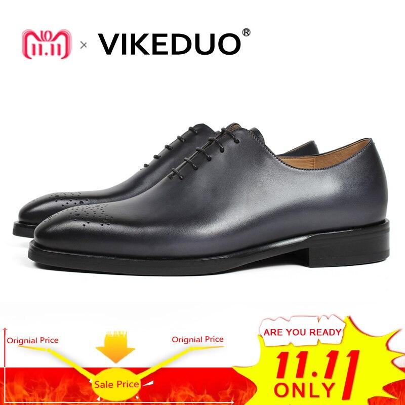 Vikeduo 2018 Handmade Retro Design Shoes Men Luxury Wholecut Wedding Male Oxford Footwear Genuine Leather Man Brogue Dress Shoes цены