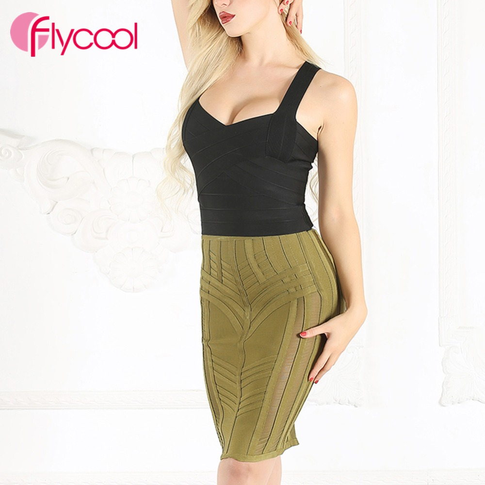 Flycool femmes taille gaine droit Bandage taille haute Push Up parti crayon robe moulante dames femmes bref solide quotidien robe