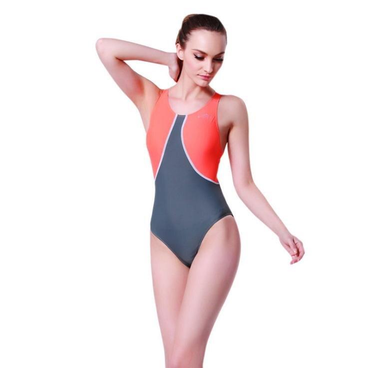 Sport Blue Patchwork Monokini Swimsuits Backless Әйелдер - Спорттық киім мен керек-жарақтар - фото 3