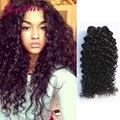 Productos para el cabello rosa mongol rizado pelo virginal rizado 4 unids/lote curly crochet extensiones de cabello 6a mongol rizado armadura del pelo rizado
