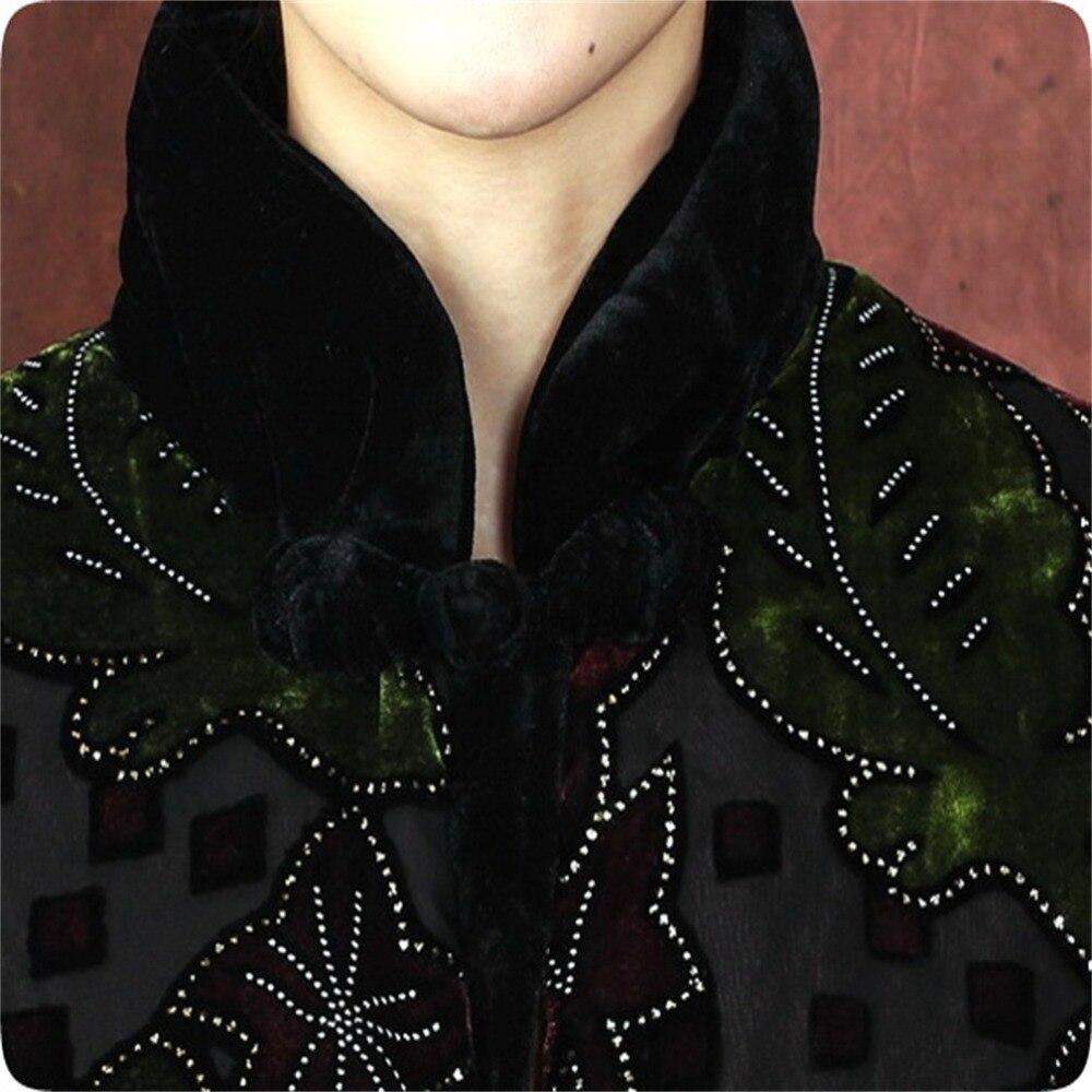 Multicolore multi Xxl Tradition Survêtement L 3xl D'âge Costume M Veste Ouatée Chinois Noble De Moyen Saveur Xl Velours Vert 4xl Femmes rRaWr15w7q