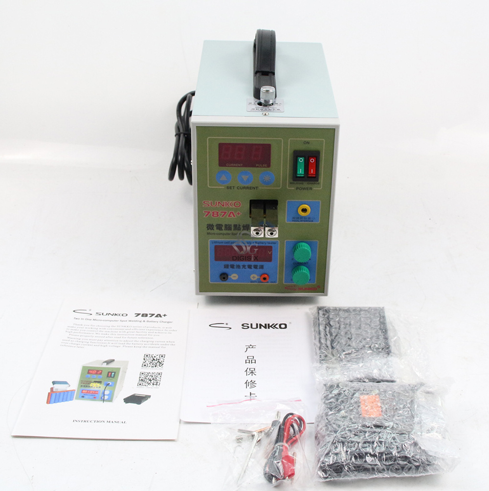 Sunkko 787A+ 220V Battery Spot Welder Pulse Welding Machine For 18650 Lithium-ion Battery Packs 0.05 - 0.2 Mm