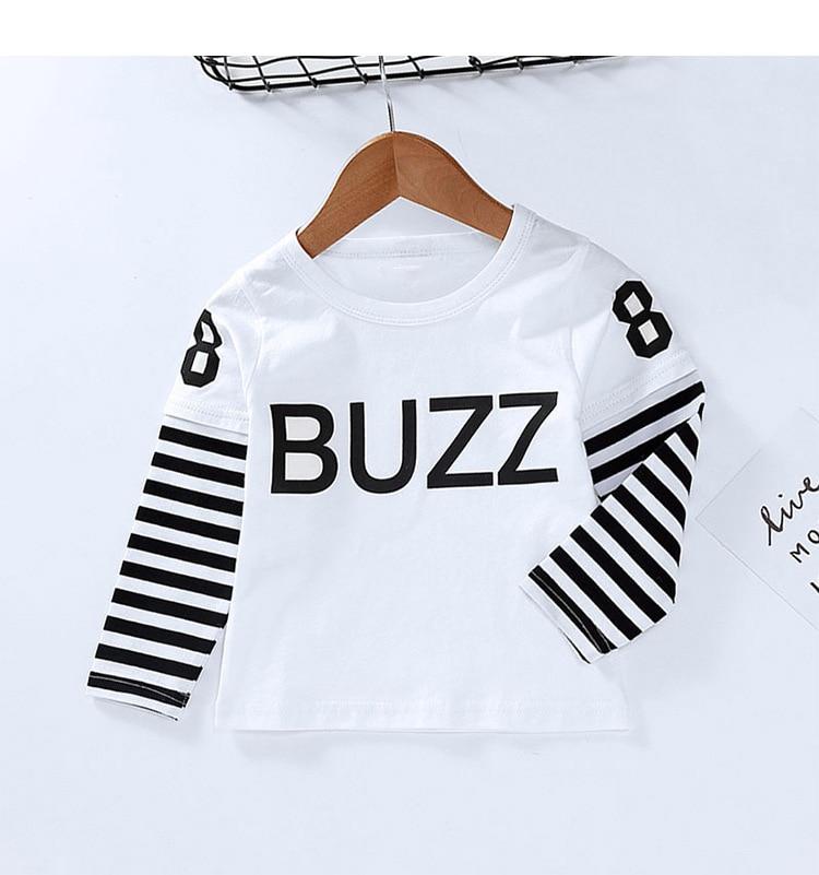 New Spring Boys Girls Cartoon Cotton T Shirts Children Tees Boy Girl Long Sleeve T Shirts Kids Tops Brand Baby Clothes 12M-8Y 31