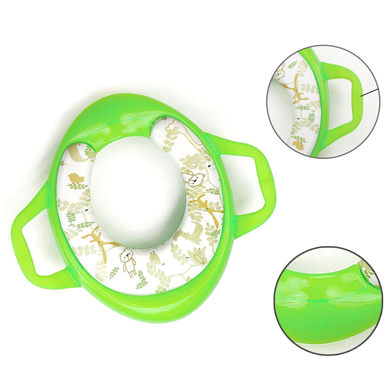 Eco-friendly Baby Potties Soft Toilet Training Seat Children Trainer With Handle WC Assistant Potty Toilet Pad for Kid New image