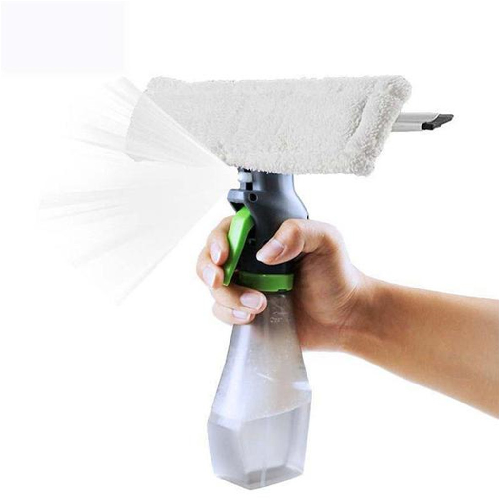 3 in 1 Window Cleaner Spray Dry Scraper Features Atomizing Nozzle Bottle Wiper Microfibre Cloth Pad Kit Car Glass Clean Brush|Cleaning Brushes| - AliExpress