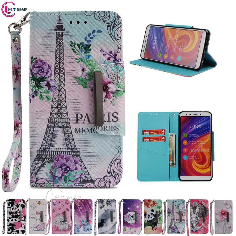 Bright Wallet Big Cover For Xiaomi Mi M 6x 6 X X6 Mi6x Mix6 Mi6 X Flip Mobile Phone Case For Xiaomi Mi A2 A 2 Ma2 Mia2 Coque Housing Invigorating Blood Circulation And Stopping Pains Phone Bags & Cases