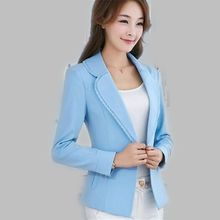 Women Autumn Suit New Style Fashion Career Suit Long sleeve lace collar small suit slim Big yards charm women's clothing G2686