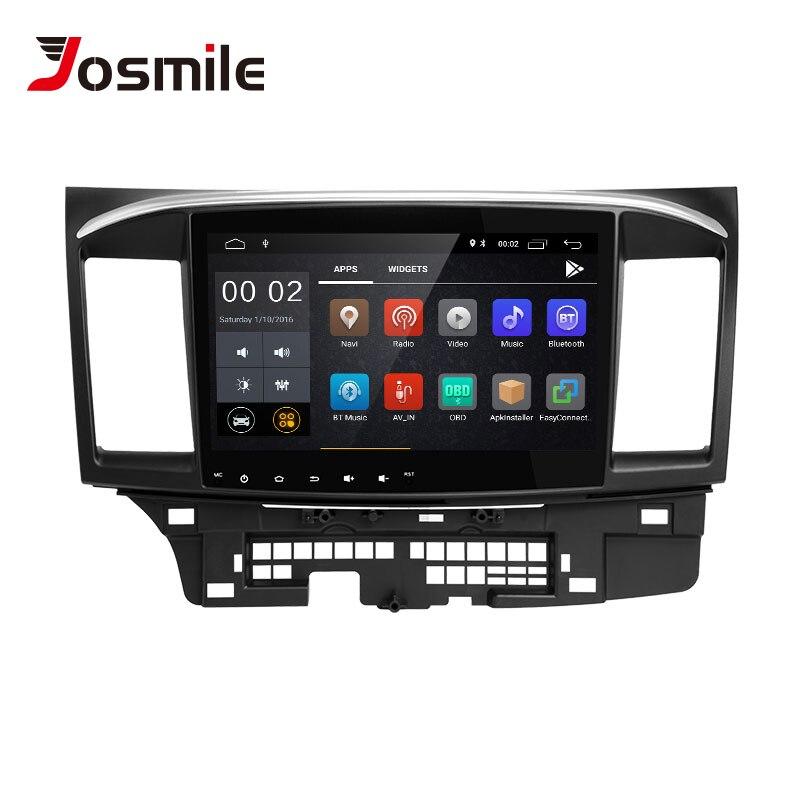Lecteur multimédia de voiture josourire 2 Din Android 8.1 pour Mitsubishi Lancer X 9 10 2008-201510.1 pouces 4G AutoRadio GPS Navigation Wifi