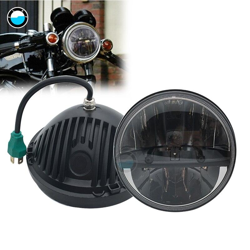 Phare de LED ronde de 7 pouces avec phare de faisceau Hi/Lo pour Yamaha Road Star 1700