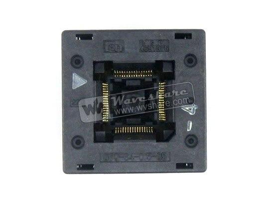 QFP64 TQFP64 LQFP64 PQFP64 OTQ-64-0.5-05 QFP IC Test gravure-In Socket Enplas 0.5mm pasQFP64 TQFP64 LQFP64 PQFP64 OTQ-64-0.5-05 QFP IC Test gravure-In Socket Enplas 0.5mm pas