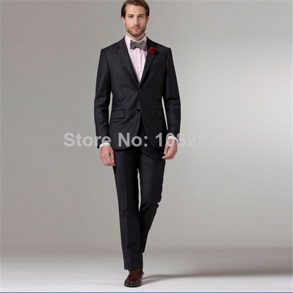 2014 Rushed Promotion Single Breasted Regular Fly Flat Wool Groom ...