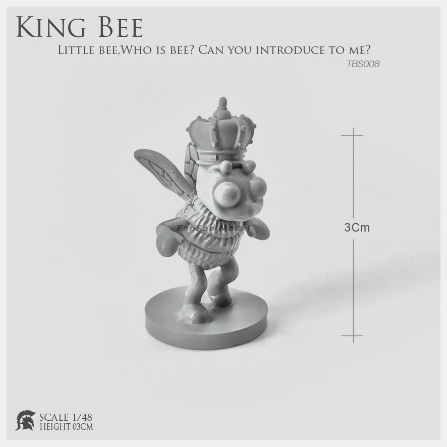 <font><b>1/48</b></font> <font><b>Resin</b></font> Kit Little Bee Flying In Flowers (king Bee) <font><b>Resin</b></font> Soldier 30-40mm Tbs008 image