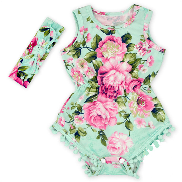 6865a4265 (DEWDROP) Baby girls Floral Bubble Romper ,petti romper,baby birthday  outfit ,Pom Baby Toddler Romper(rompers+ bow headband)