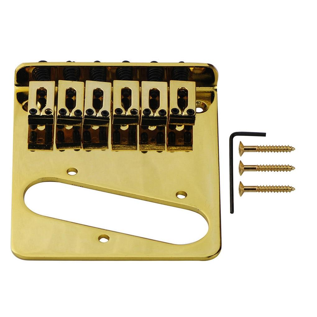 buy fleor tele single coil pickup style 6 saddles guitar bridge string spacing. Black Bedroom Furniture Sets. Home Design Ideas