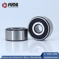 5307 2RS Bearing 35 x 80 x 34.9 mm ( 1 PC ) Axial Double Row Angular Contact 5307RS 3307 2RS 3056307 Ball Bearings