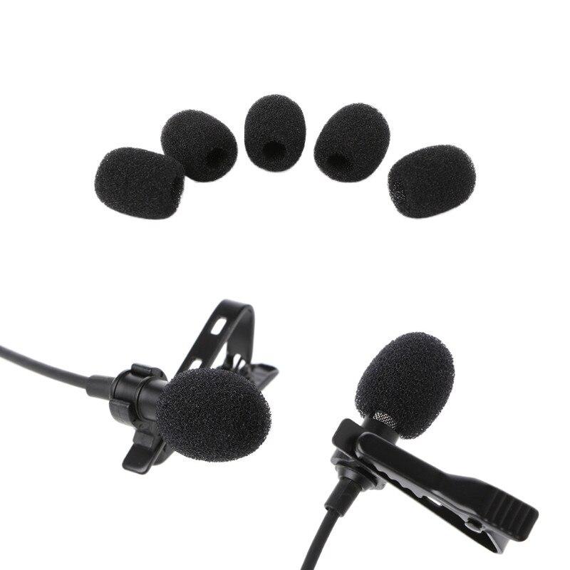 5X Round Ball Lavalier Microphone Foam Windscreen Sponge Windshields 6mm Opening 10166