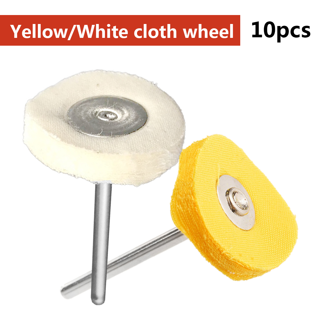 10pcs/set Polishing Wheel Buffing Pad Brush Set for Jewelry Jade Hardware Dremel Accessories for Power Rotary Tools